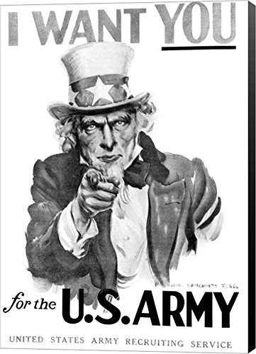 1910s World War One I Want You Uncle Sam by Vintage PI Canvas