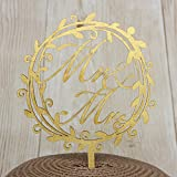 Country Wedding Rustic Wooden Cake Topper Garland Mr Mrs Cake Decoration Gold Painted Wood Wedding Cake