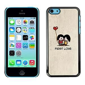 [Neutron-Star] Snap-on Series Teléfono Carcasa Funda Case Caso para iPhone 5C [Cartoon minimalista Beige lindo del corazón]