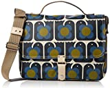 Orla Kiely Love Birds Print Satchel, Navy