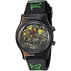 Nickelodeon Boy's Quartz Plastic Casual Watch, Color Black (Model: TMN4160)