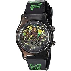 Nickelodeon Boy's Quartz Plastic Casual Watch, Color Black (Model: TMN4160)