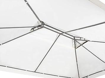 Garden Point Pabellón de jardín Malta | 300 x 400 cm | Rectangular | Impermeable Jardin | Fácil Montaje | Cortinas en el Set | Beige: Amazon.es: Jardín