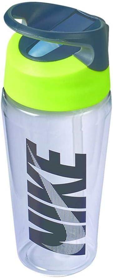 Nike TR Hypercharge Straw Bottle - Botella para entrenamiento (473 ml), color gris y negro
