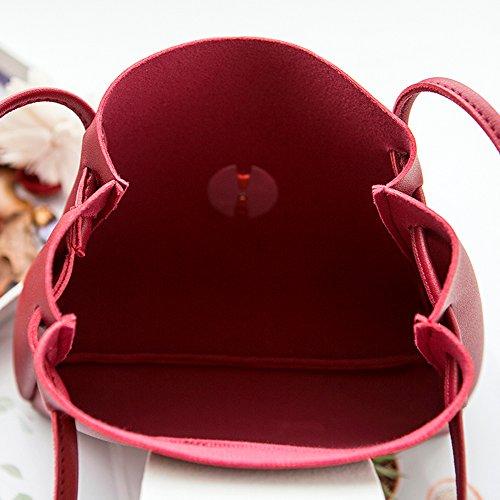 Messenger Cuir Bandoulière Fourre Sac Satchel Main Bourse PU Tout Rouge À Sacs Nouveau Hobo Sac À Femmes YPx0Pq7