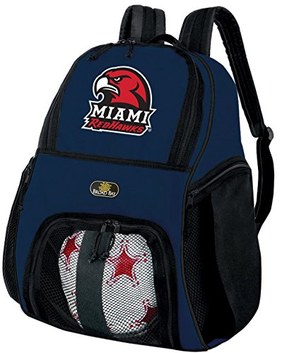 Broad Bay Miami University Soccer Backpack Volleyball Bag Navy by Broad Bay