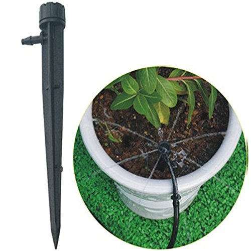 50Pcs Wholesale Garden Irrigation Supplies Drip Irrigation Sprinkler Eight-hole Watering /Adjustable 360 Degree Revolve