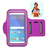 uFashion3C [XS-Size] Sports Armband for Running and Workout - fits iPhone SE / 5 / 5S /5C with OtterBox Commuter or LifeProof Fre Case, iPhone 4 / 4S with Defender/ Symmetry or LifeProof Nuud (Purple-no)