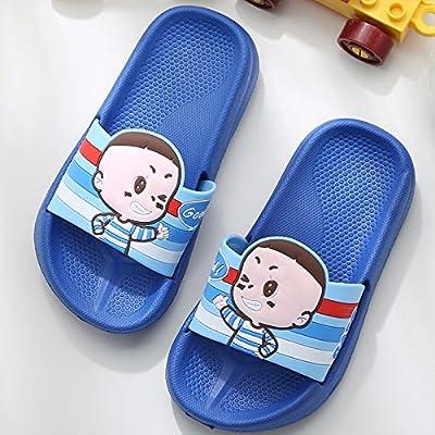 6cd6d582de5 CWJDTXD Zapatillas de verano Ferry infantil sandalias casa par baño baño  antideslizante adulto bebé dibujos animados luz sandalias y zapatillas  hombres y ...