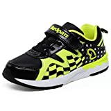 Boys and Girls Sports Casual Trainers Flat Velcro Lightweight Running Sneakers (Little Kid/Big Kid)