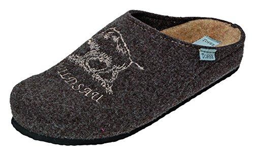 TOFEE - Zapatillas de estar por casa para hombre marrón Marrón Marrón