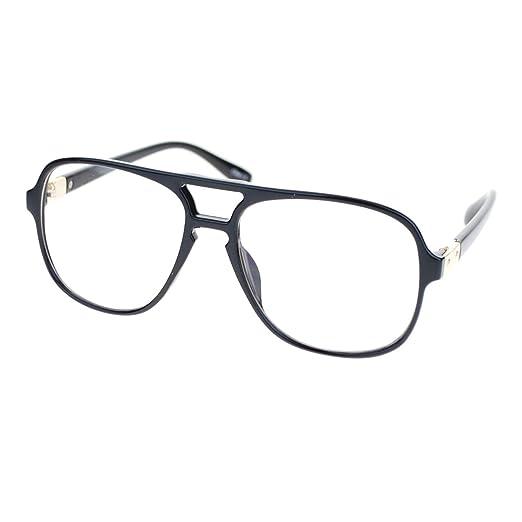 d339940ed8 Amazon.com  Mens Thin Plastic Nerdy Large Clear Lens Eye Glasses ...
