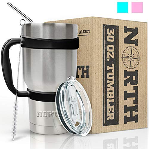 North Stainless Steel Vacuum Insulated 5-Piece Tumbler Set,
