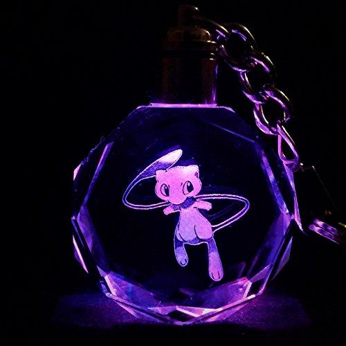 Pokemon GO Team Logo LED Crystal Keychain with Gift Box - Logo Mew