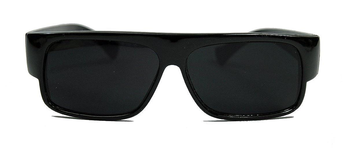 Matt schwarze Gangster Locs Herren Sonnenbrille im OG Style Linsen superdark tXE3hr