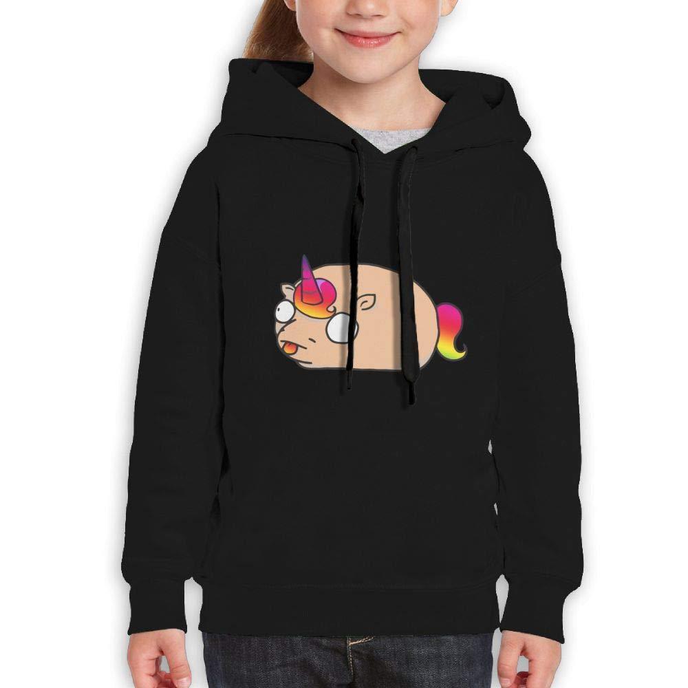 Comical Potato Unicorn Kids Hoody Print Long Sleeve Sweatshirts for Girls'