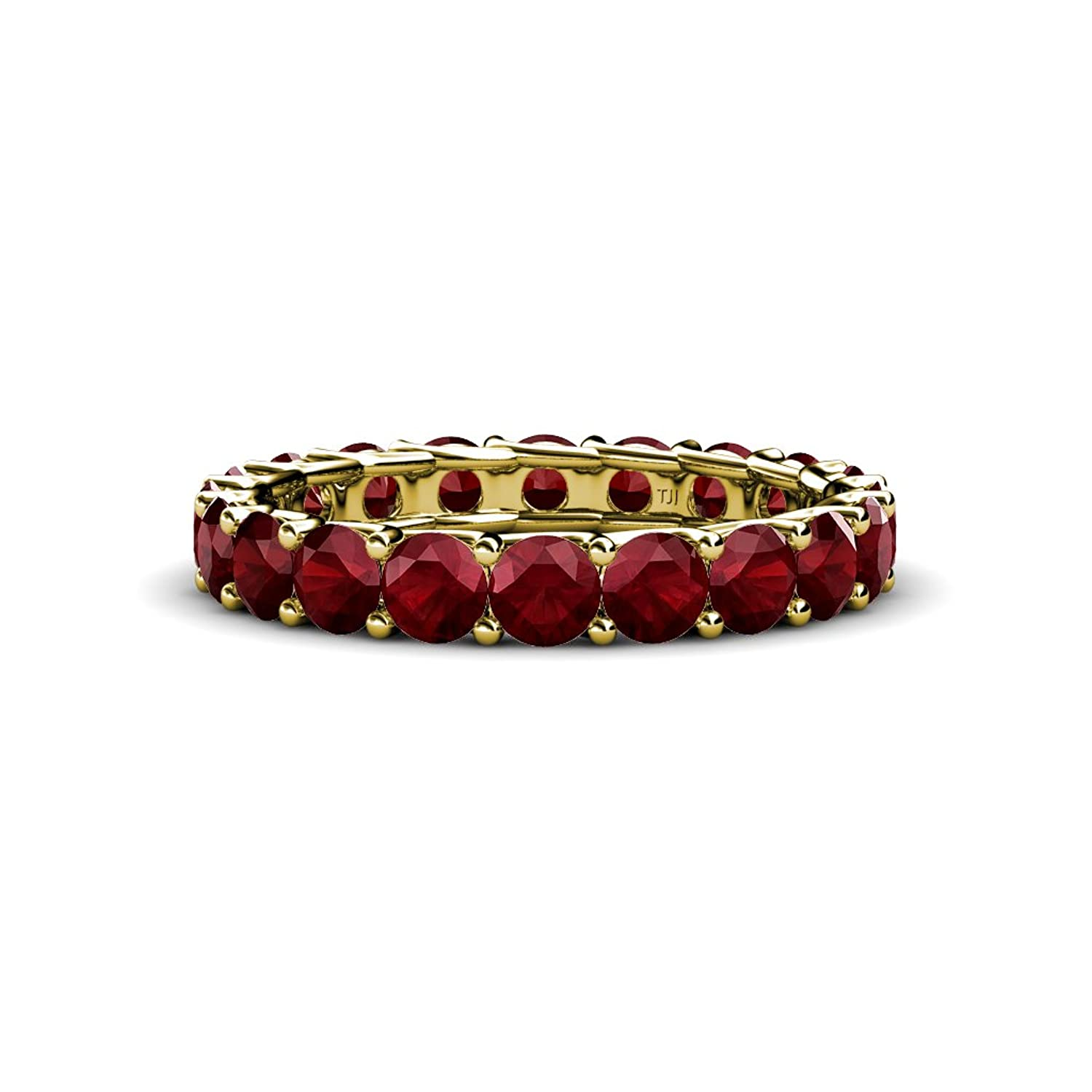 Red Garnet Eternity Band 2.86 ct tw-3.53 ct tw in 14K Gold