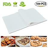 (500 Sheets) Non-Stick square Parchment Paper Baking Sheets Baking Paper Liners, 8''x12'' inch