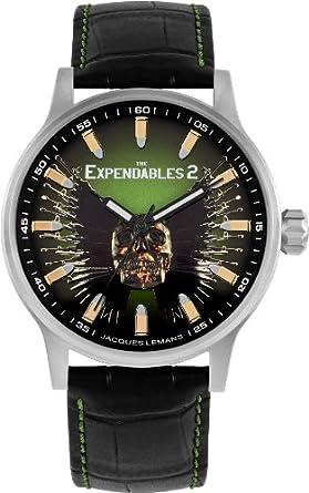 Amazon.com  Jacques Lemans  The Expendables 2  Quartz Stainless ... 515137f22f4