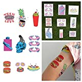 Tattify Weird Colorful Temporary Tattoos - Life in Color (Set of 18 Tattoos - 2 of each Style) - Individual Styles Available and Fashionable Temporary Tattoos
