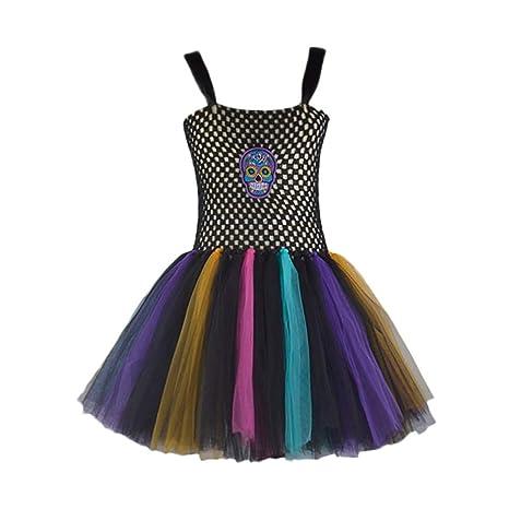 a3f94bcc691c1 Topgrowth Vestito Bambina Fata Fantasia Abito Tutu Halloween Gonna Tulle  Bimba Festa Danza Costume Patchwork Vestiti