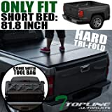 Topline Autopart Tri-Fold Hard Tonneau Cover Tool Bag 99-16 Ford F250/F350/F450 Superduty 6.5 Ft