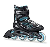 Bladerunner 0T613100821-8 by Rollerblade Advantage Pro XT Womens Adult Fitness Inline Skate, Black and Light Blue, Inline Skates (Renewed)