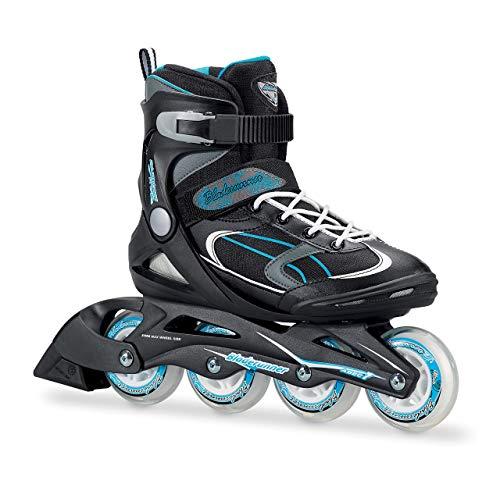 (Bladerunner by Rollerblade Advantage Pro XT Women's Adult Fitness Inline Skate, Black and Light Blue, Inline Skates)