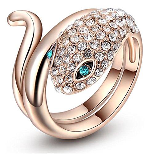 [Rose Gold Personality Animal Ring Blue Eyes Of Snake] (Custom Snake Eyes Costumes)
