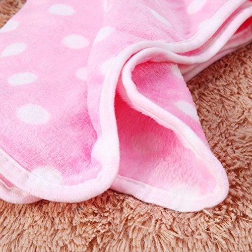 chic WinnerEco Dot Print Dogs Blanket,Soft Pet Cat Dog Cute Coral Velvet Blanket Rest Mats