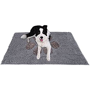Ultra Absorbent Microfiber Chenille Dog Door Mat Cage Mat Washable And  Durable Pet Mat Quickly Drying