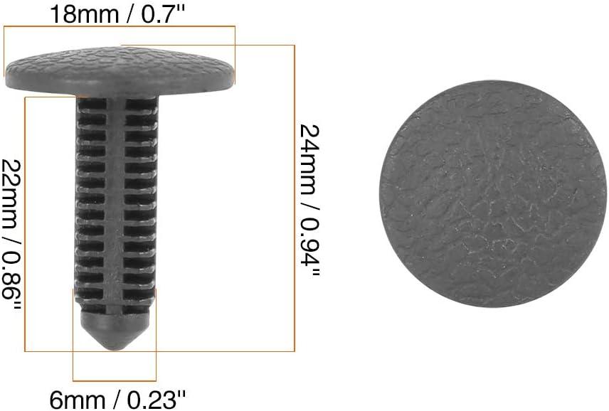 X AUTOHAUX 30pcs 6mm Hole Dia Plastic Bolt Rivets Fastener Trim Panel Retainer Clips Black for Toyota