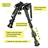 CVLIFE Bipod with M-lck Mount Adapter 6-9 Inches