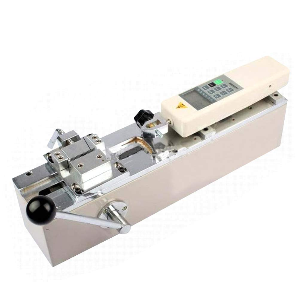 110v Manual Horizontal Digital Push-Pull Meter Tensile HPH Pull Force Tester,Test Bench and HP-500 Digital Force Gauge 500N//50KG//110LB