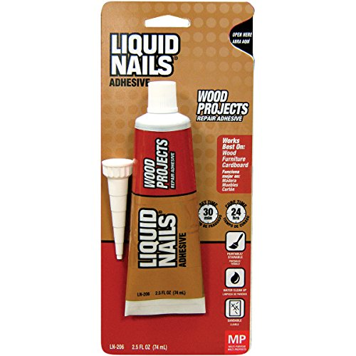Wood Nails - Liquid Nails LN-206 2.5-Ounce WD Project Adhesive