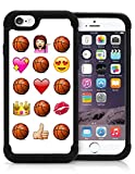 Basketball Novelty Emoji Funny Princess Love Basketball Case For Teens Girls iPhone 5 iPhone 5S Case Cover Protective HYBRID Bumper Case with Drop Protection Dual Layer