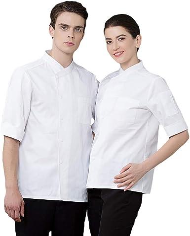 SK Studio Unisexo Algodón Manga Manga 3/4 Cocina Uniforme Camisa de Cocinero: Amazon.es: Ropa y accesorios