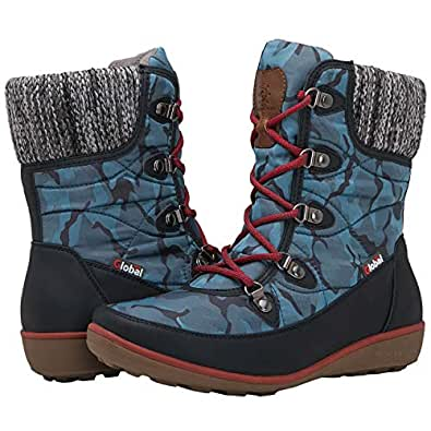 GLOBALWIN Women's 1839 Winter Snow Boots Blue Size: 6
