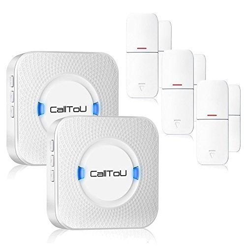 Calltou Wireless Door Open Chime Sensor Entrance Chime Entry Alert
