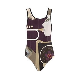 Women's Pop Art One Piece Swimsuit Swimwear Bikini M