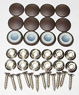 12 Dura Snap Upholstery Buttons Metallic Bronze Choice Of Size And Screws