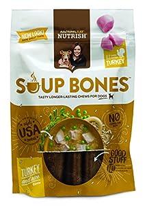Rachael Ray Nutrish Soup Bones Dog Treats, Real Turkey and Rice Flavor, 3 bones, 6.3 oz. Bag (Pack of 8)