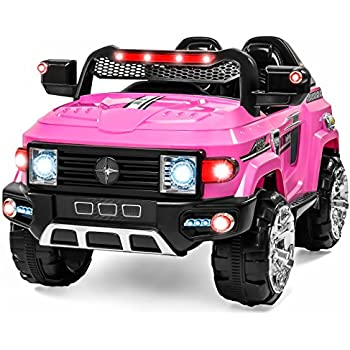 Best Choice Products 12V MP3 Kids Ride on Truck Car R/c Remote Control, LED Lights AUX and Music Pink