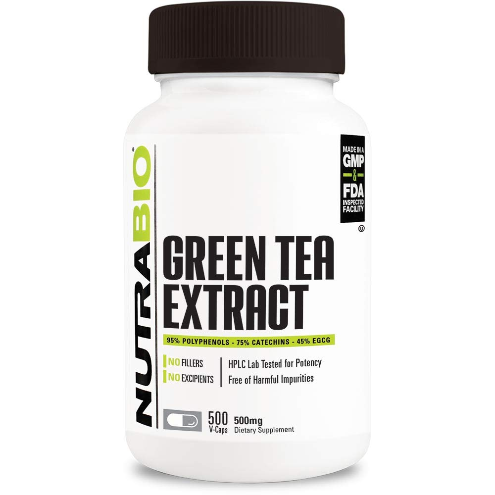 NutraBio Green Tea Extract (500 mg) (500 Capsules)