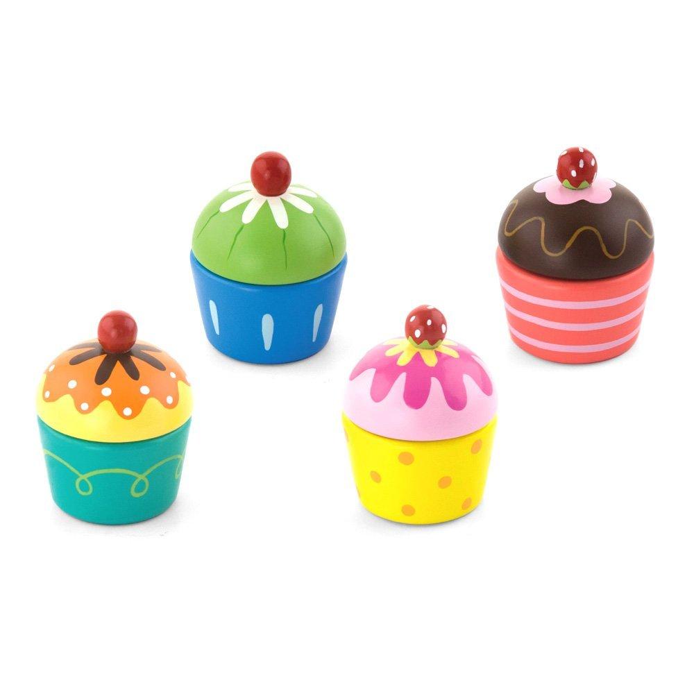 VIGA Cupcakes aus Holz