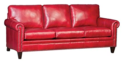 Awe Inspiring Amazon Com Chelsea Home Sofa In Heirloom Blaze Red Kitchen Dailytribune Chair Design For Home Dailytribuneorg