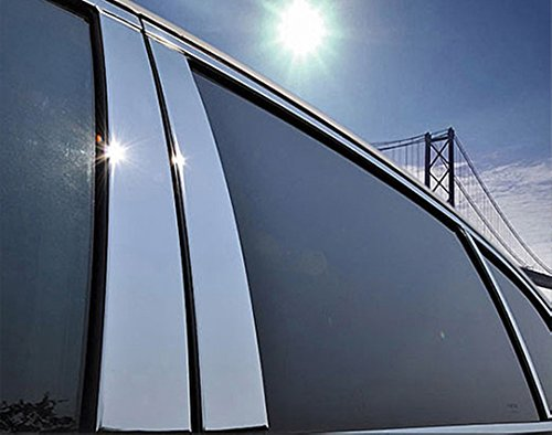 2019 2020 Jeep Cherokee Exterior Stainless Steel Chrome Pillar Pillars Post Posts Trim Set