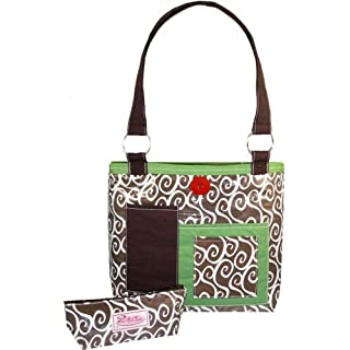 2 Red Hens Rooster Latte Swirl Diaper Bag