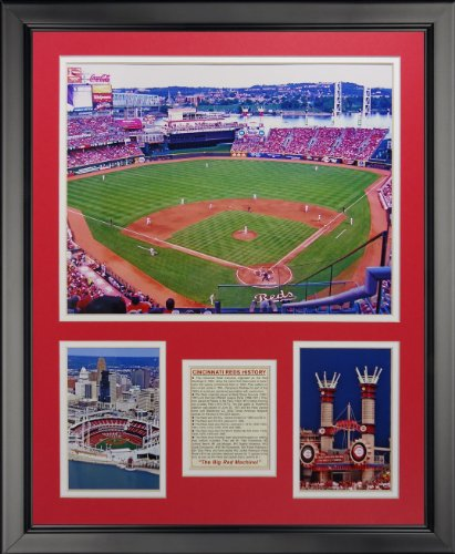 Legends Never Die Cincinnati Reds - Great American Ballpark Framed Photo Collage, 16