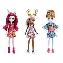 Ever After High Dragon Games Forest Pixies Dolls Set of 3: Featherly, Deerla and Harelow - Netflix Original Series by Ever After High